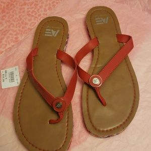 Brand new red AE sandals